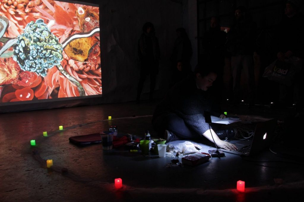 Linda Stupart, Virus, 2016. Performance: Arcadia Missa, London. Photograph: Joseph Noonan-Ganley