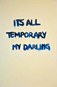 Banele Khoza <i>It's All Temporary My Darling</i>, 2016. Acrylic on Canvas
