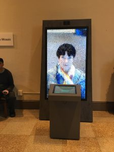 The selfie machine at the Smithsonian