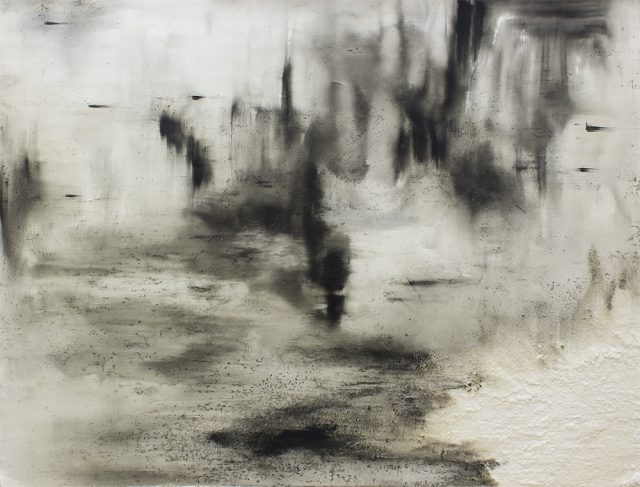 Alexandra Karakashian Ground X, 2016. Oil and salt on paper