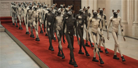 Jane Alexander Infantry, 2008-10. Installed at the Cathedral of St John the Divine.