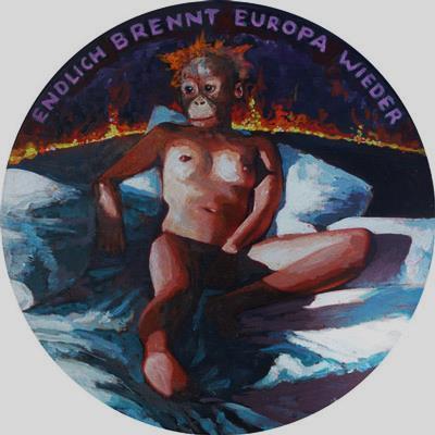 Volker Marz, Endlich Brennt Europa Wieder,, 2015 – 2016. Mixed media installation, Dimensions Variable