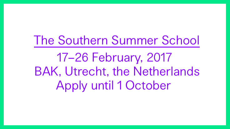 The Southern Summer School | Call for Applications