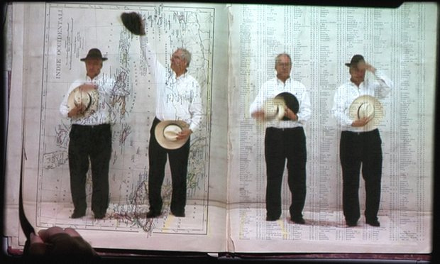 Kentridge is pictured in his collaborative video projection The Refusal of Time (2012). Photograph: Courtesy William Kentridge, Marian Goodman Gallery, Goodman Gallery and Lia Rumma Gallery