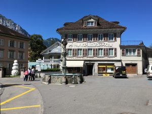 The centre of Altdorf, with the art museum on the left
