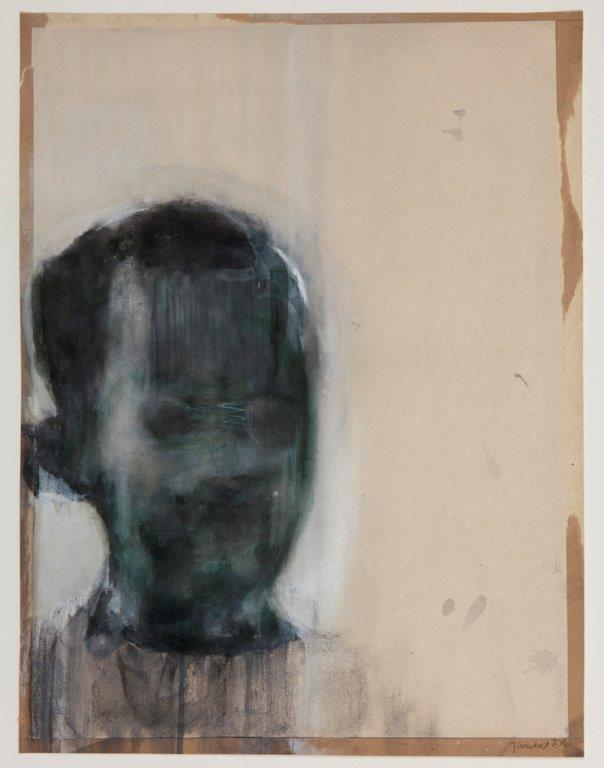 Josie Grindrod, Young Boy, 2016. Tempera on paper, 44 x 54.5 cm