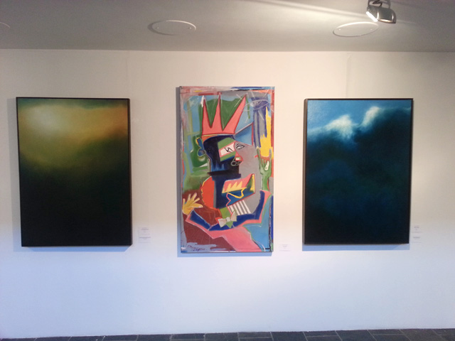 Cedric Vanderlinden [left, right] and Thembalethu Manquyana [center] at AVA Gallery