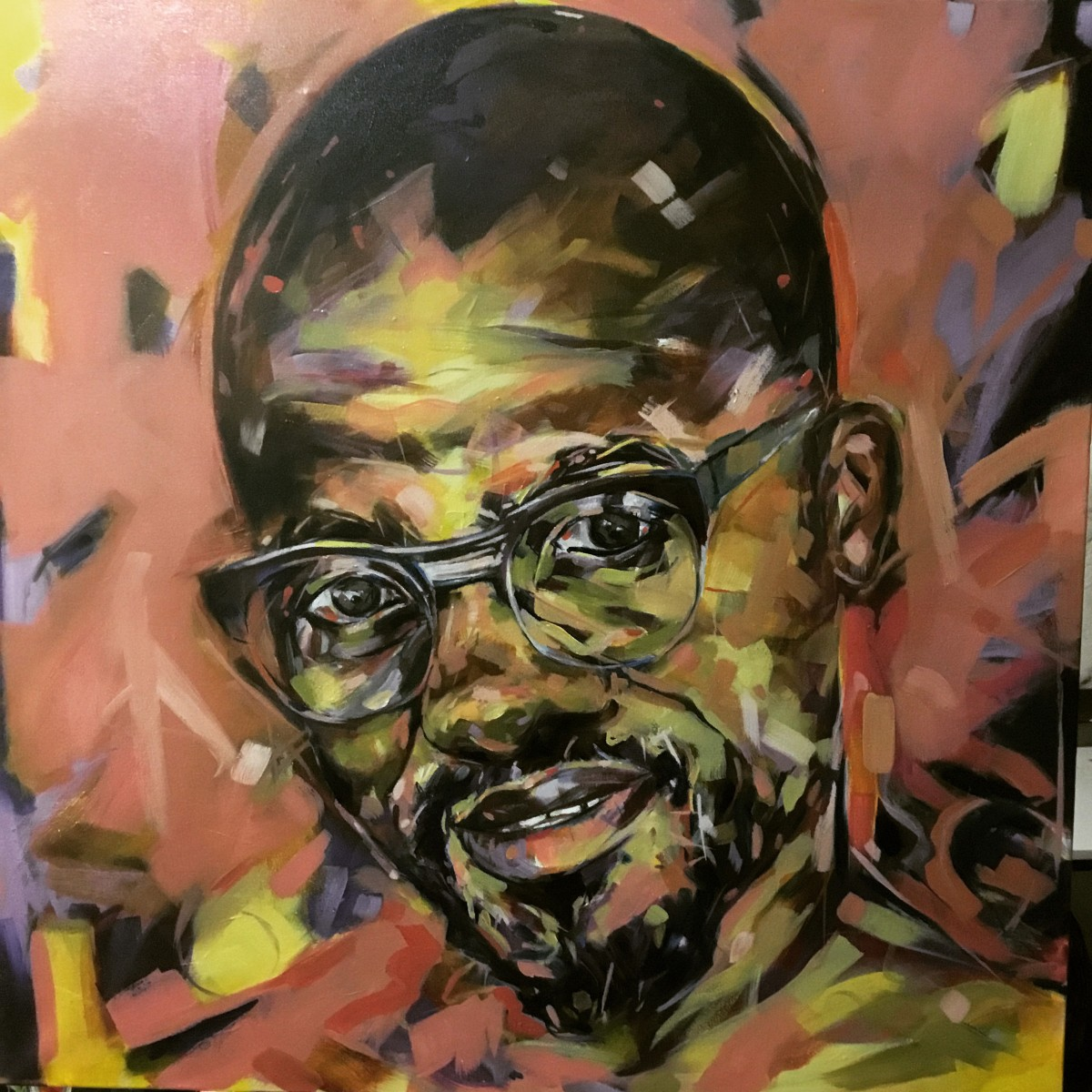 Janine Jollands, <i>Ayanda</i>. Oil on canvas, 100x100cm