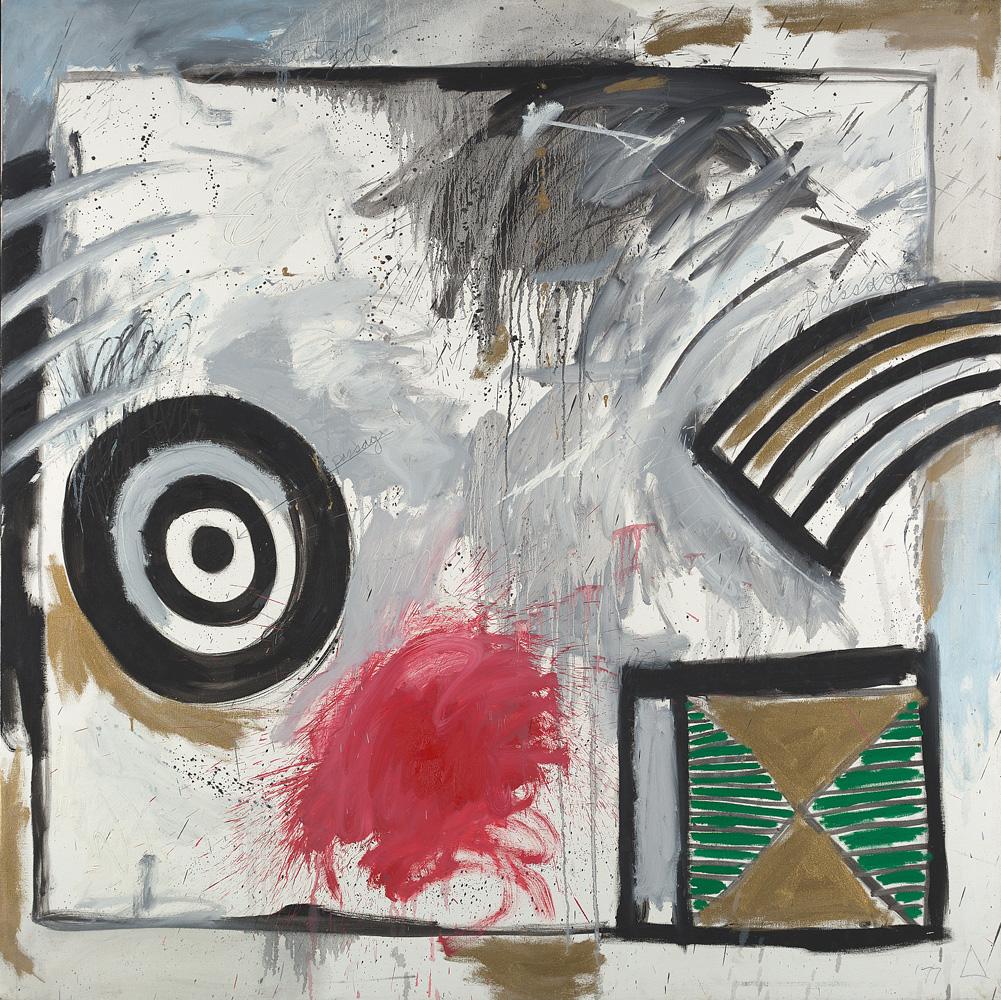 Kevin Atkinson, Ritual Area (1), 1977. Oil on canvas, 168 x 168cm