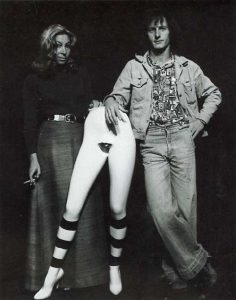 Linda Givon and Norman Catherine  at the first Goodman Gallery in 1973