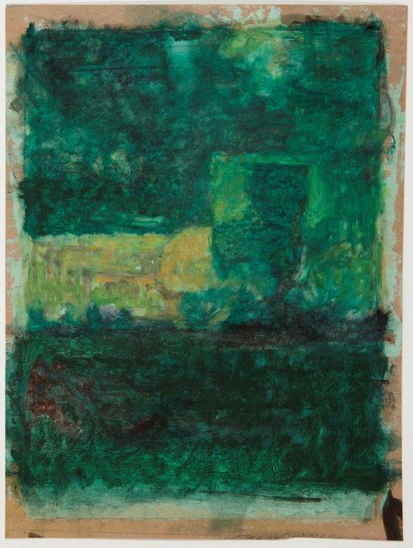 Josie Grindrod, My Mother's Garden I, 2016. Oil on paper, 43.5 x 65.5 cm