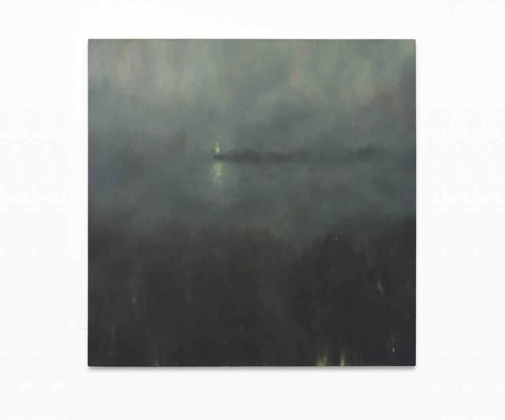 Jake Aikman, Beacon, 2017. Oil on canvas, 100 x 100 cm