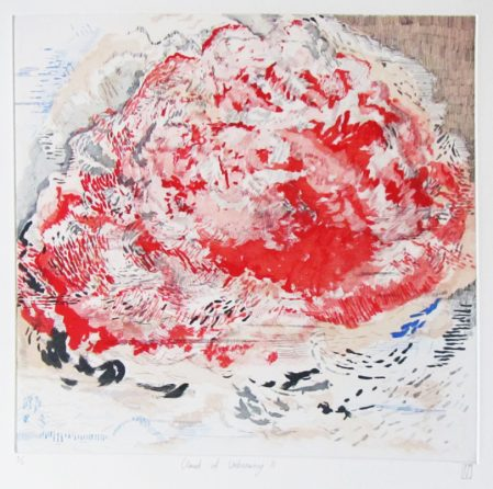 Robyn Penn, Cloud of unknowing II, 2015. Sugarlift aquatint and hard ground etching, 46.8 x 47.7cm
