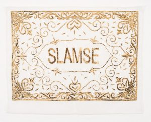 Thania Petersen <i>Slamse</i>, 2017. Silk and Gold Thread