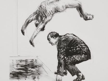 William Kentridge Back Flip, 1991. Lithograph