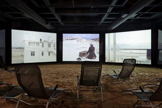 Mikhael Subotzky WYE, 2016. Three-channel video installation