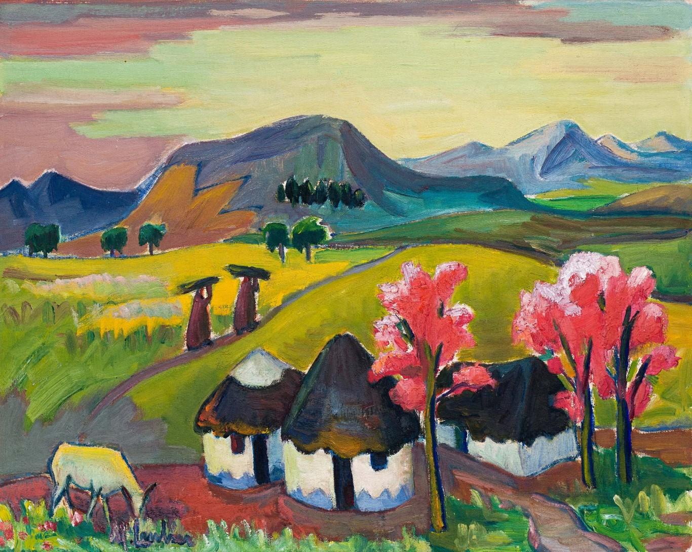 Maggie Laubser, /i>Basutoland Hills</i>