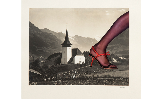 Rebecca Haysom, Untitled (Steeple Leg), 2017. Collage on paper