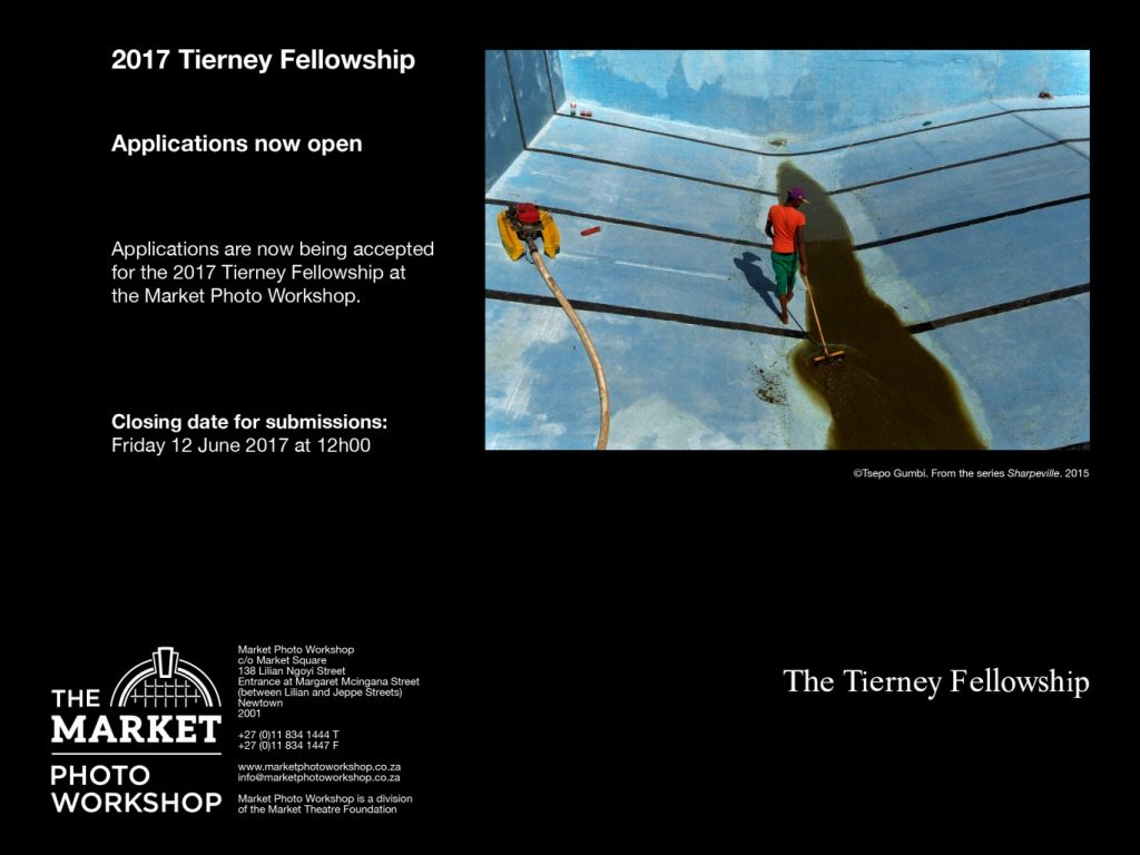 Applications open for the 2017 Tierney Fellowship at the Market Photo Workshop