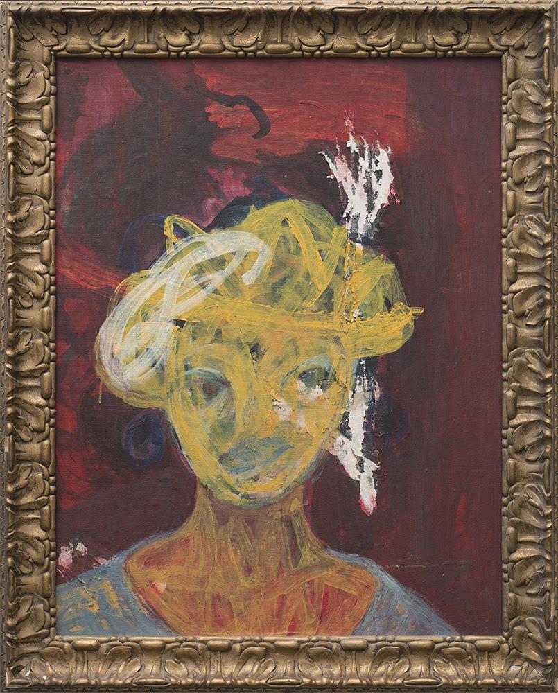 Mostaff Muchawaya, </i>Ndaikuda II</i> 2017. Acrylic on canvas, 108 x 85 cm