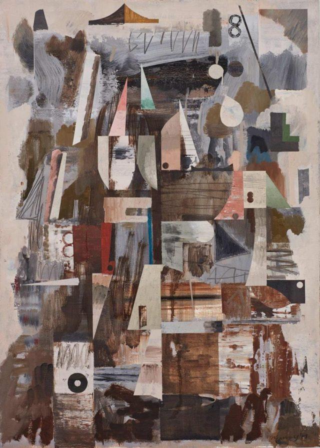 John Murray, Vertigo, 2017. Oil on paper, 70 x 50 cm