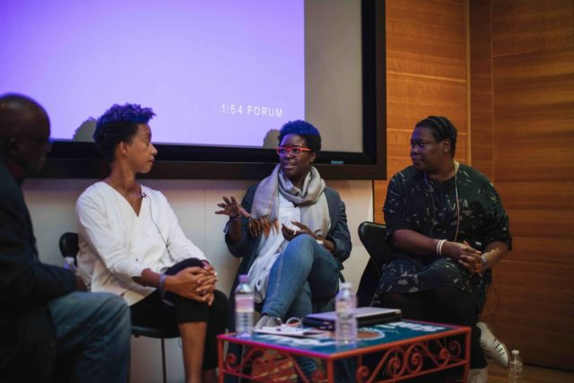 1-54 FORUM with George Shire, Melanie Keen, Elvira Dyangani Ose and Sepake Angiama, London 2017 © Katrina Sorrentino