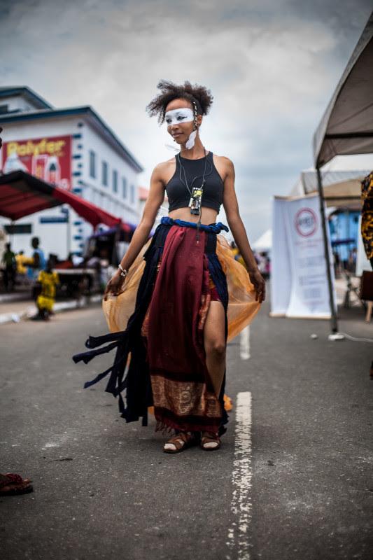 Elisabeth Efua Sutherland, <i>Sui Generis</i>, 2015.  Chalewote Street Art Festival. Photo: Desire Clarke