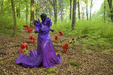Mary Sibande, Let slip the dogs of war, 2015. Wanas Konst. Photo Mattias Givell