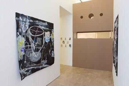 Thierry Oussou, Trace series, 2015. Installation view
