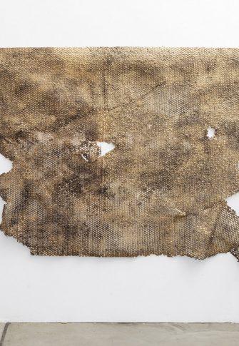 Wallen Mapondera, Abandoned Hive 3, 2017. Mixed media, 126 x 220 cm