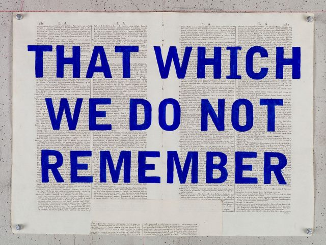 William Kentridge, That Which We Do Not Remember 2017.