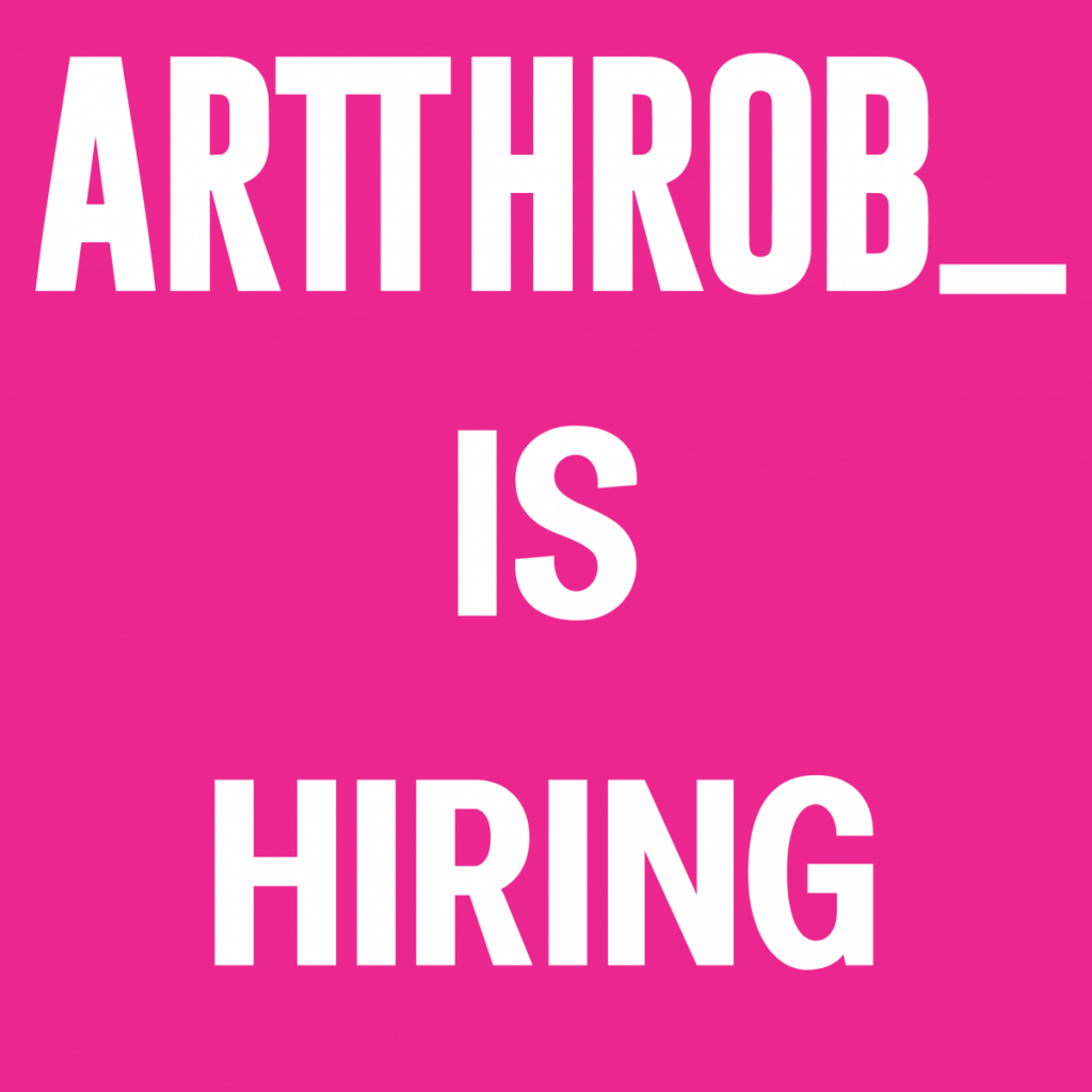 ArtThrob is hiring: Admin and Editions Manager