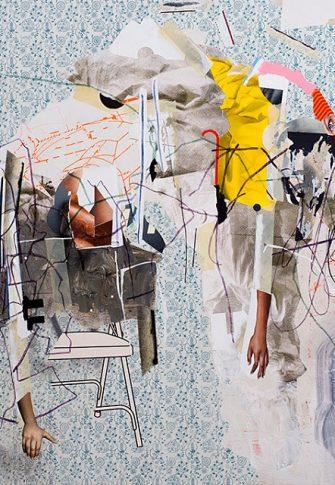 Asha Zero, uinderld, 2018. Acrylic on board, 131 x 164 cm