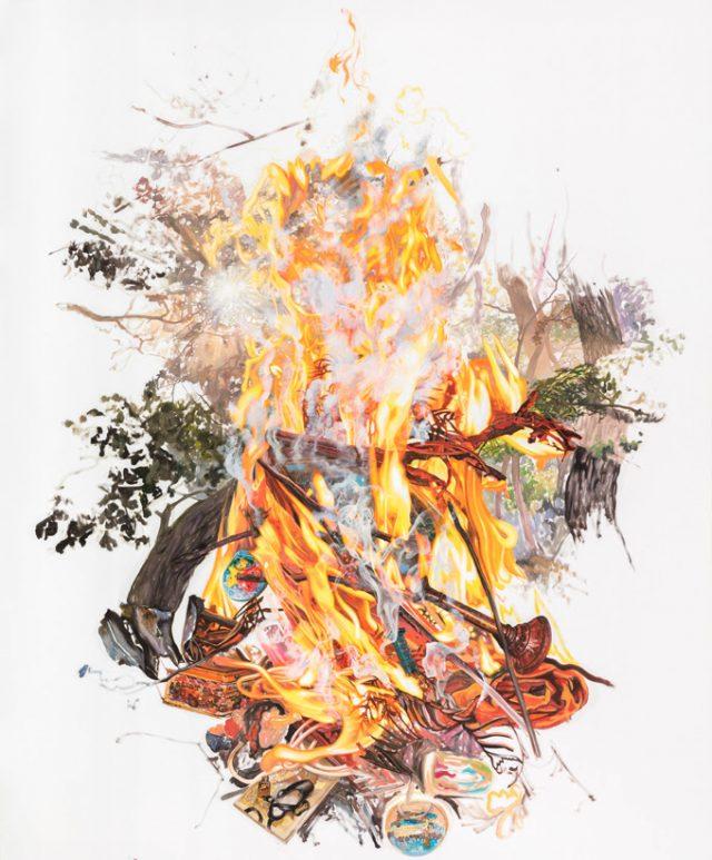 Deborah Poynton, The Echoing Green, 2018. Oil on canvas, 230 x 190 cm